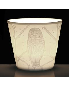 CANDLE HOLDER   W / OWL