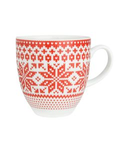 KNITTED NEW RED MUG 35 CL